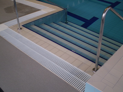 Ladders, Railings, Steps,  Backstroke Poles, Flags, and Lane Rope Anchors